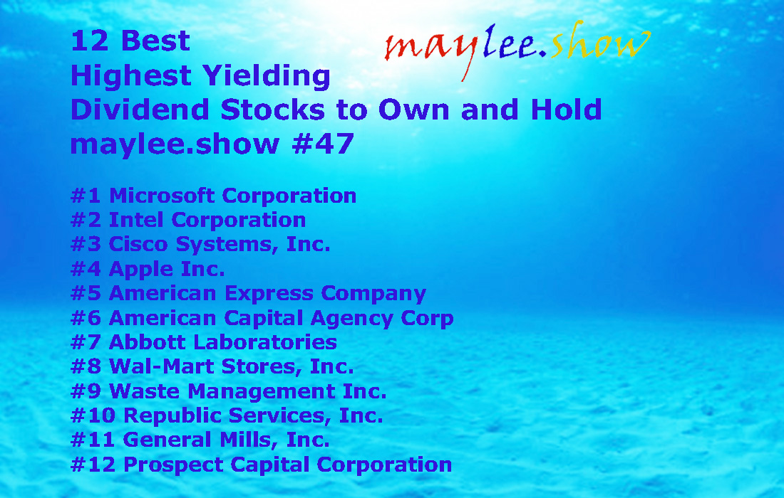 12 best highest yielding dividend stocks to own and hold 47 maylee.show