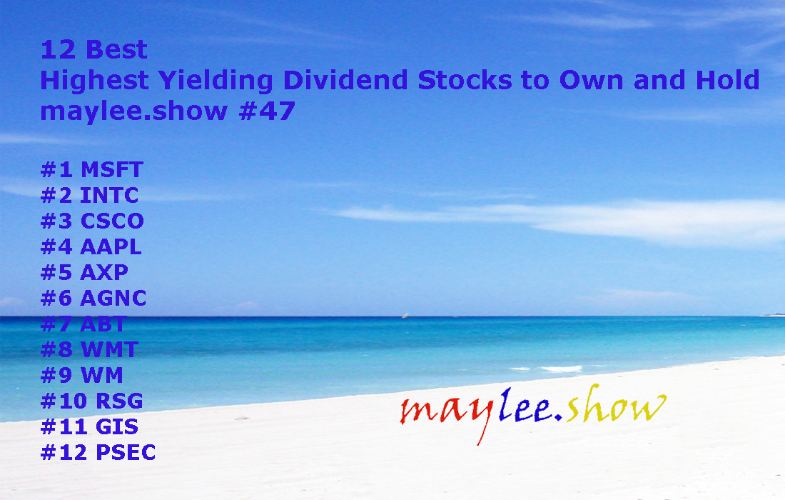 12 best highest yielding dividend stocks to own and hold maylee.show 47