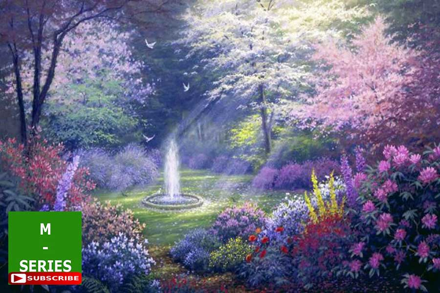 12 relaxing piano music m b worlds best scenic paradise flower garden soothing sounds