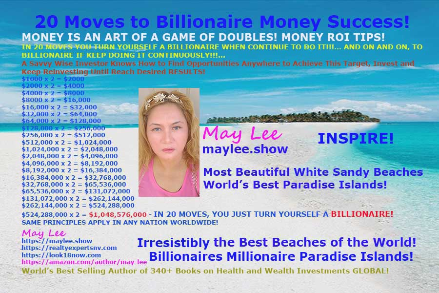 20 moves to billionaire money success maylee.show