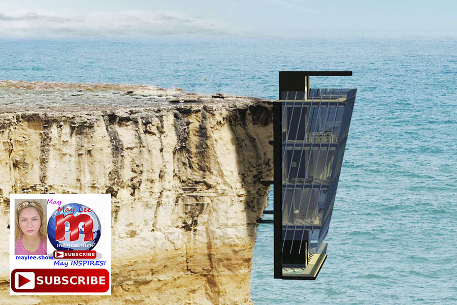 2 amazing luxury homes built on cliff rock