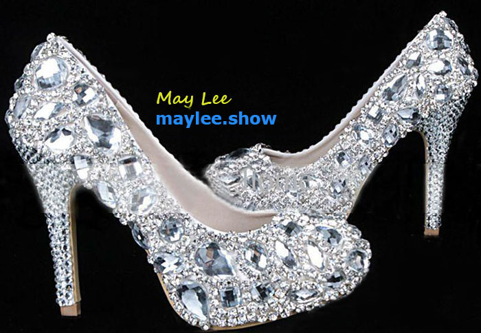 2 maylee.show luxury brands most expensive gold diamond shoes 2