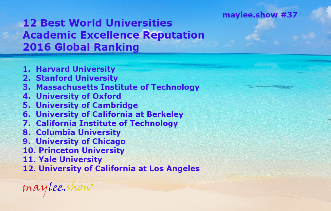 37 12 Best World Universities Academic Excellence Reputation 2016 Global Ranking maylee.show