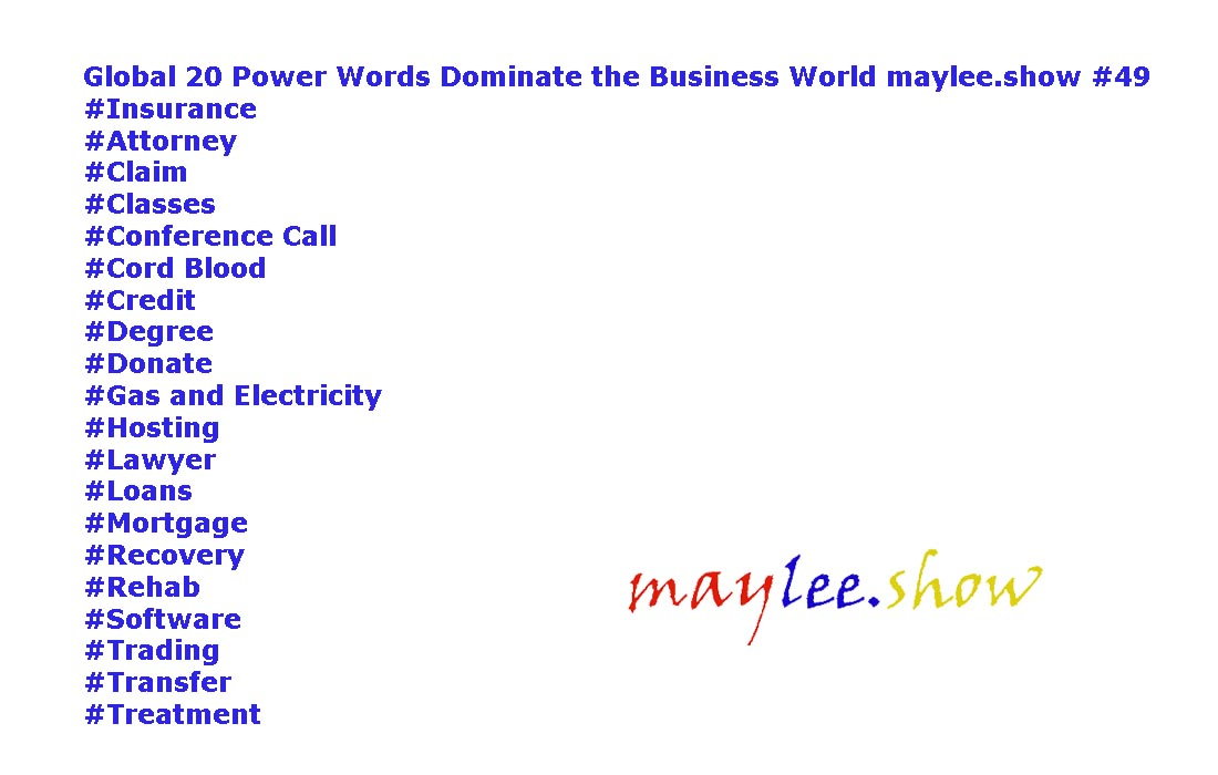 global 20 power words dominate the business world 49 maylee.show