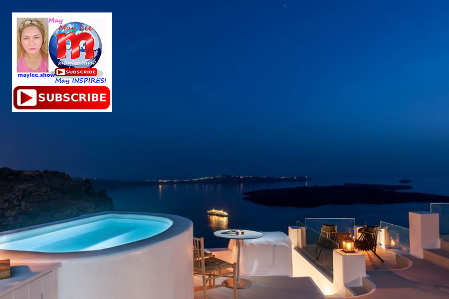 hilltop overlooking beach views by the luxury pool and spa romantic nights