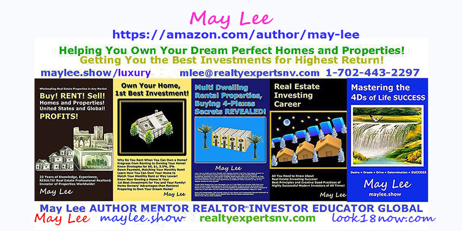 may lee author amazon real estate insvestments stocks business wealth books on maylee.show