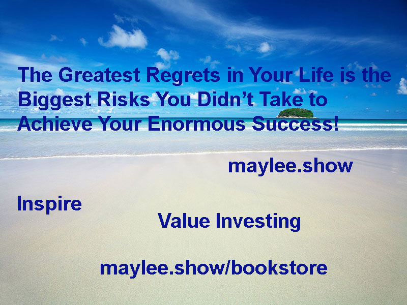 maylee.show inspire biggest risks equate enormous success