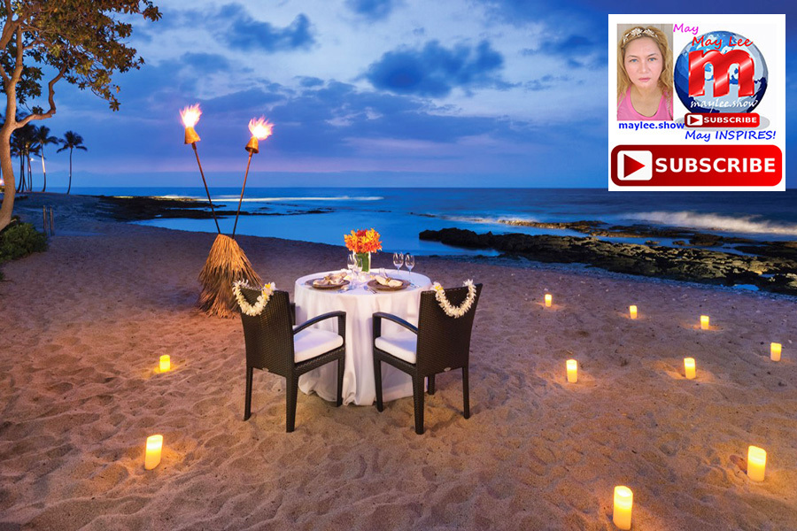 memorable candle light dinners along the shores