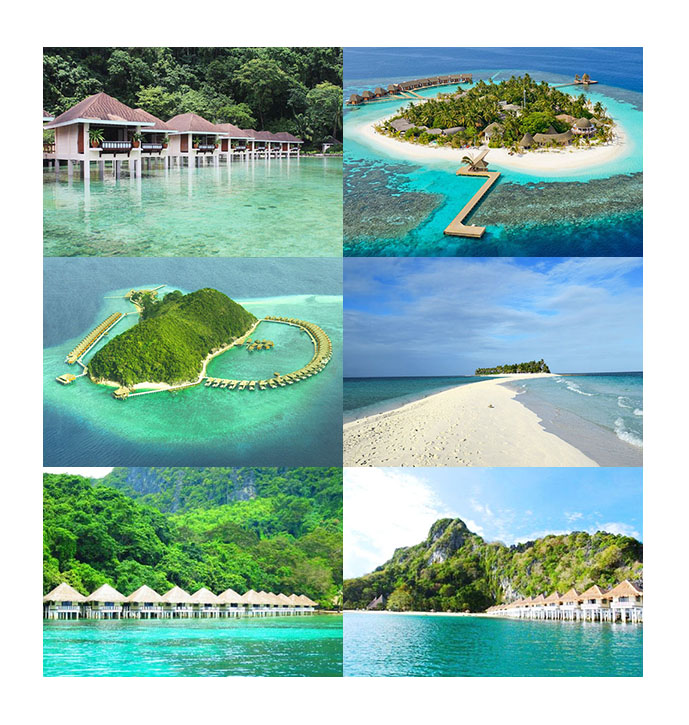 palawan floating bungalows island resorts